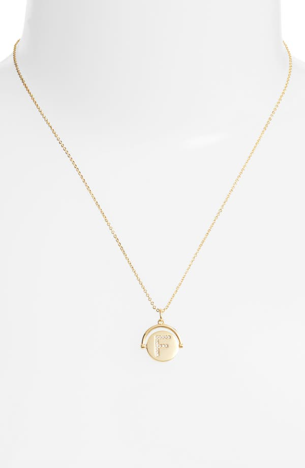 Lulu Dk Initial Spinner Necklace N Gold iKMhUj