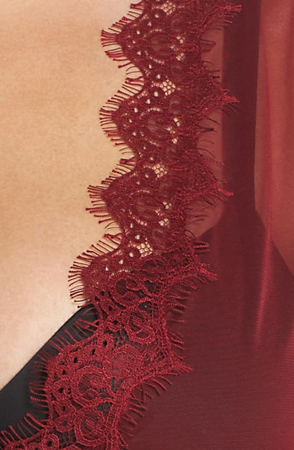 Alternate Image 5  - Oh La La Cheri Eyelash Curves Robe & G-String (Plus Size)