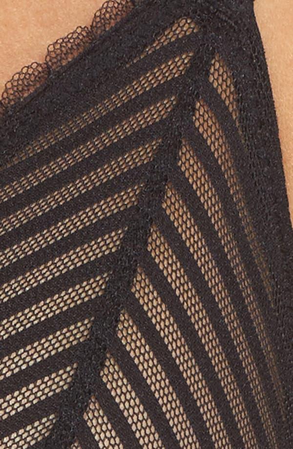 Shiny Stripe Triangle Bralette,                             Alternate thumbnail 10, color,                             Black
