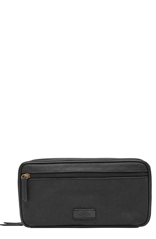 Canvas Travel Kit,                         Main,                         color, Black