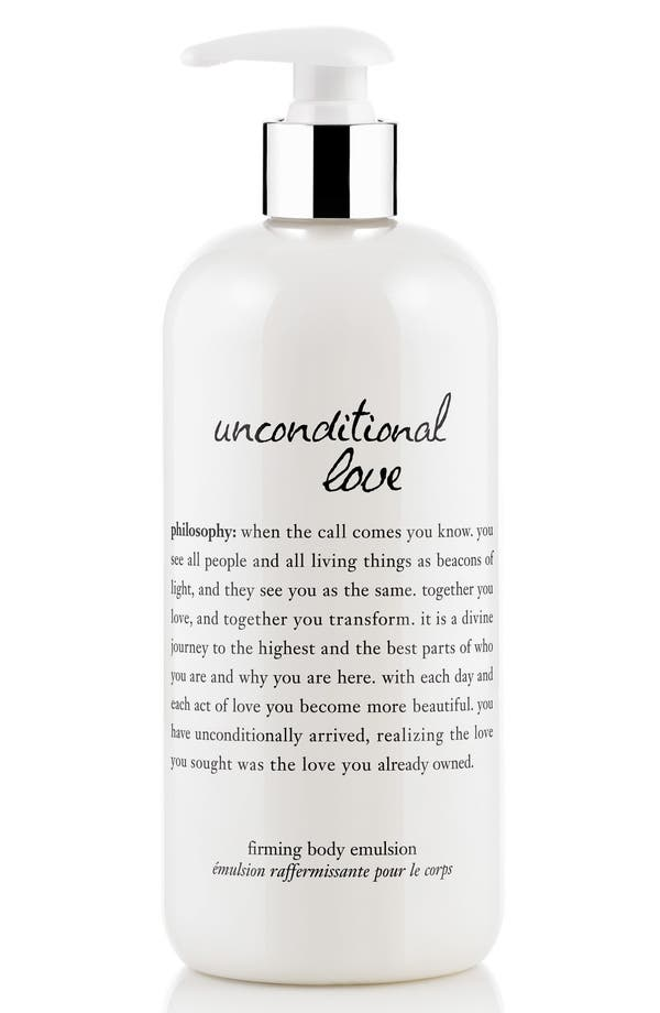 Main Image - philosophy 'unconditional love' perfumed firming body lotion