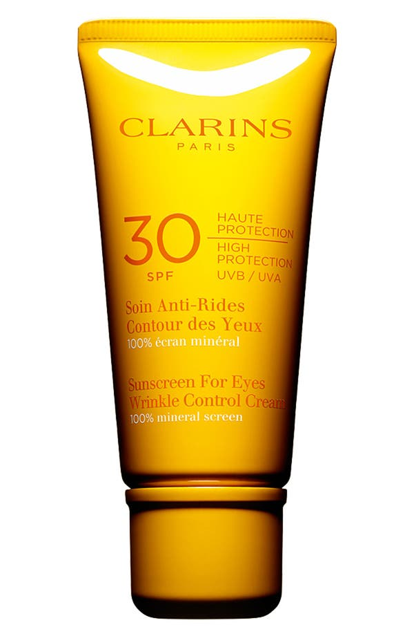 Alternate Image 1 Selected - Clarins Sunscreen for Eyes Wrinkle Control Cream SPF 30