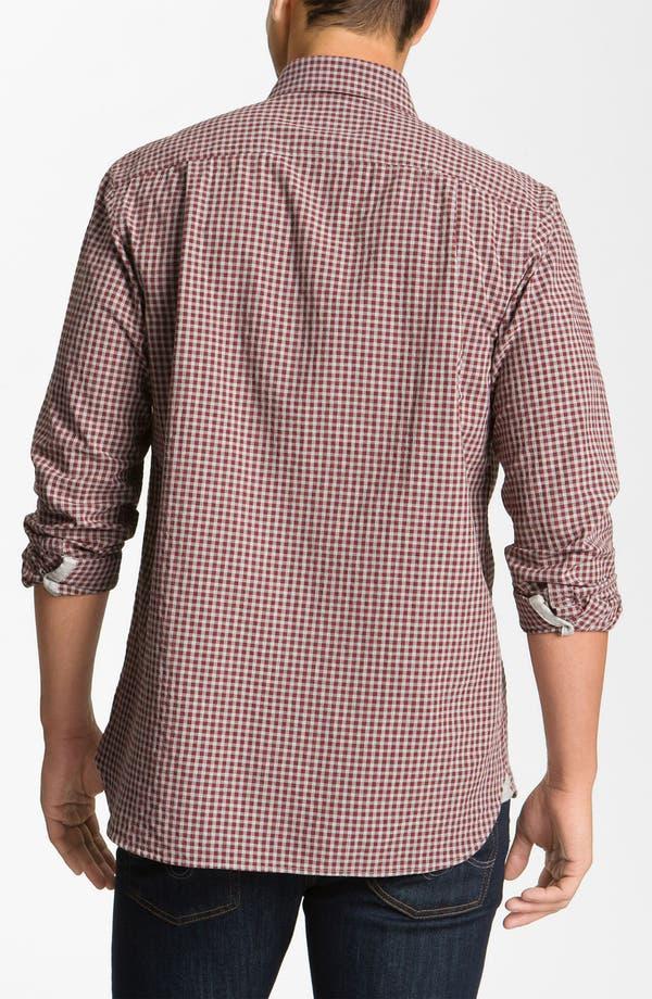 Alternate Image 2  - Hickey Freeman Gingham Woven Shirt