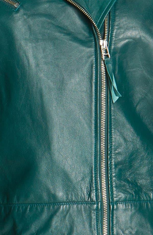 Alternate Image 4  - John Carlisle Leather Moto Jacket (Plus)
