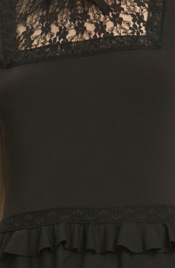 Alternate Image 3  - RED Valentino Tiered Hem Jersey & Lace Dress
