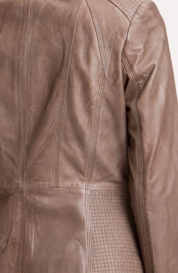 Alternate Image 3  - Bernardo Topstitch Leather Jacket
