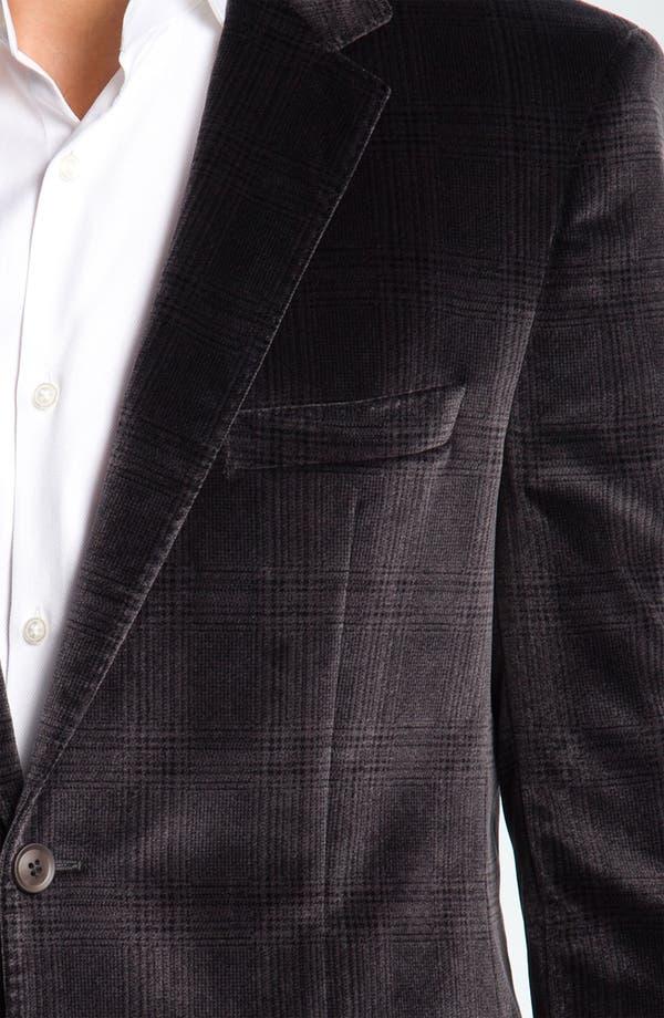 Alternate Image 3  - BOSS Black 'Smith' Velvet Plaid Sportcoat