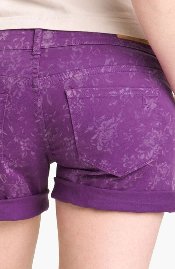 Alternate Image 4  - Articles of Society 'Kara' Cuff Denim Shorts (Flower) (Juniors)