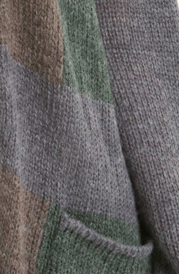 Alternate Image 2  - Halogen® Patchwork Knit Topper