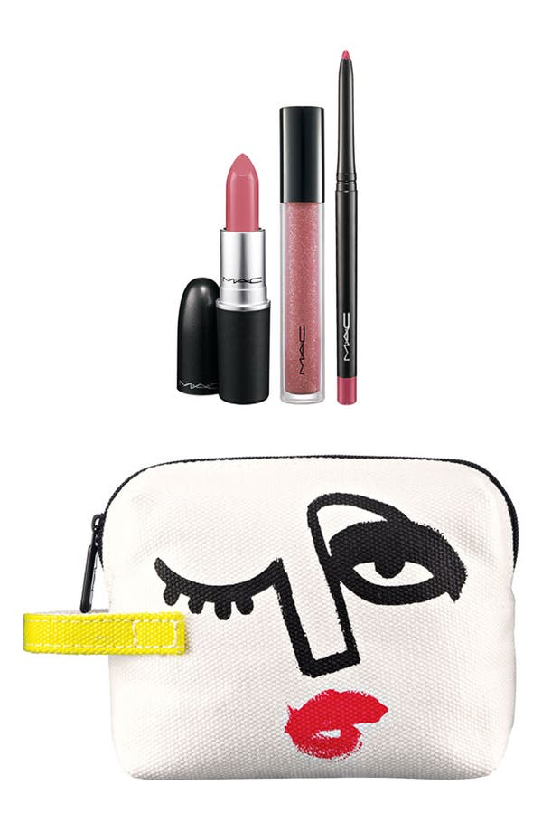 Main Image - M·A·C 'Illustrated - Pink x3' Lip Color & Bag by Julie Verhoeven (Nordstrom Exclusive) ($54.50 Value)