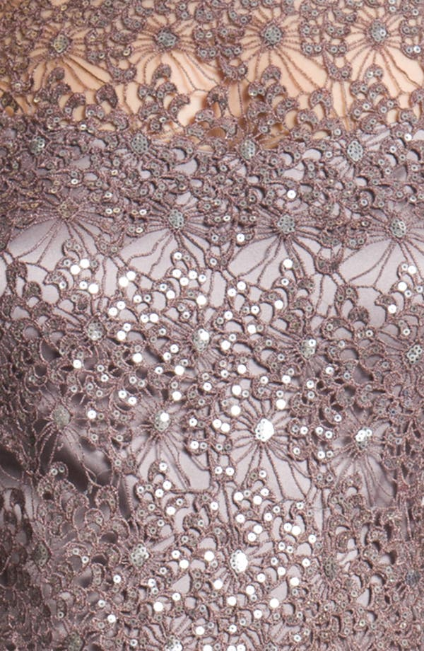 Alternate Image 3  - Kay Unger V-Back Metallic Lace Sheath Dress
