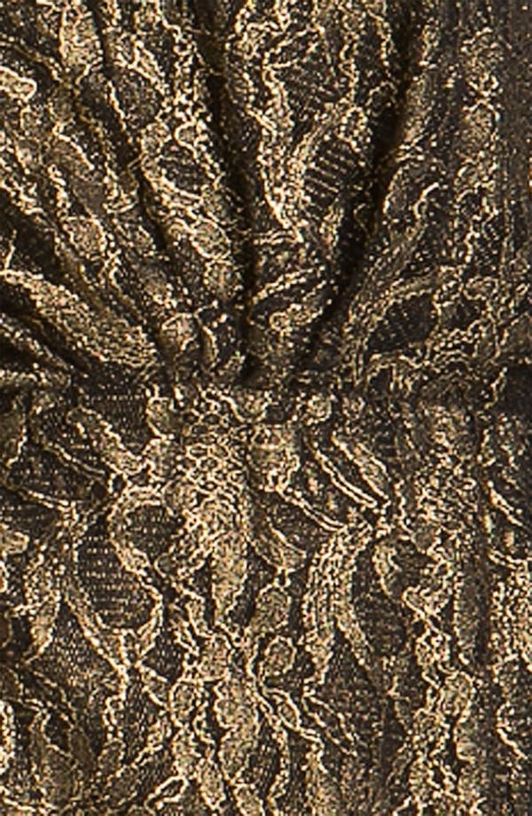 Alternate Image 3  - Trina Turk 'Birch' Metallic Lace Blouson Dress