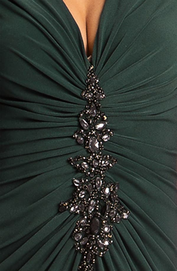 Alternate Image 3  - JS Boutique Embellished Front Ruched Jersey Gown