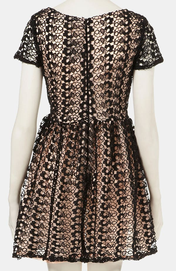 Alternate Image 2  - Topshop Lace Skater Dress
