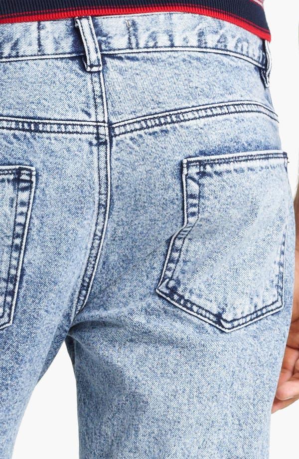 Alternate Image 4  - Topman Vintage Skinny Jeans (Light Wash)