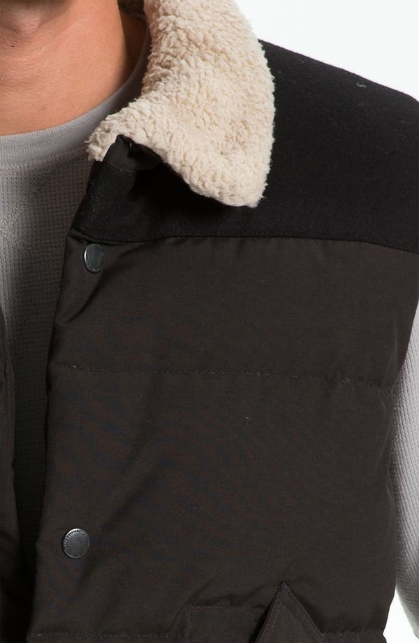 Alternate Image 3  - J.C. Rags Quilted Puffer Vest with Faux Shearling Trim
