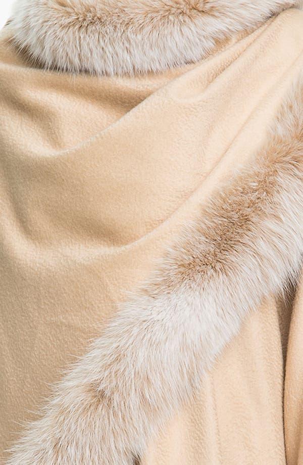Alternate Image 3  - Sofia Cashmere Genuine Fox Fur Trim Cape