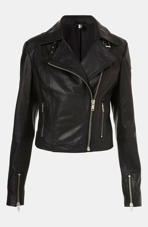 Alternate Image 2  - Topshop 'Peace' Studded Leather Jacket