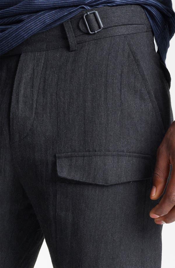 Alternate Image 4  - John Varvatos Collection Herringbone Slim Fit Pants