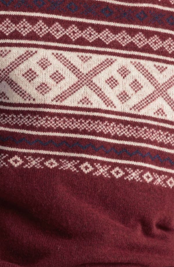 Alternate Image 3  - Topman 'Cherry Cross' Fair Isle Crewneck Sweater