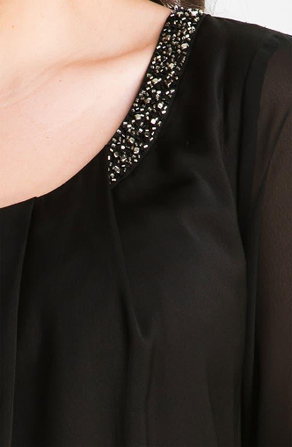 Alternate Image 3  - DKNYC Beaded Sheer Sleeve Top (Plus)