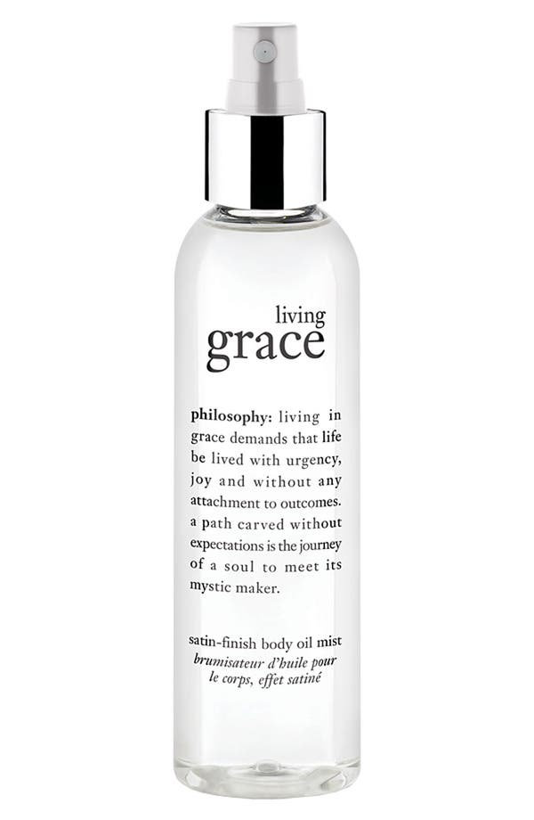 Alternate Image 1 Selected - philosophy 'living grace' satin finish body oil mist