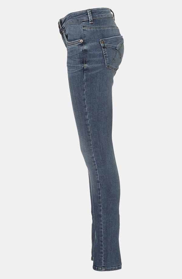 Alternate Image 3  - Topshop Moto 'Baxter' Skinny Jeans (Midstone)