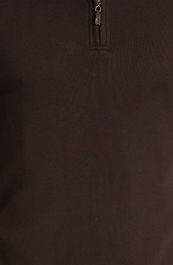 Alternate Image 3  - Robert Talbott Quarter Zip Sweatshirt