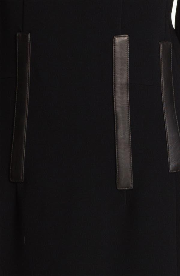 Alternate Image 3  - rag & bone 'Imogen' Leather Trim Dress