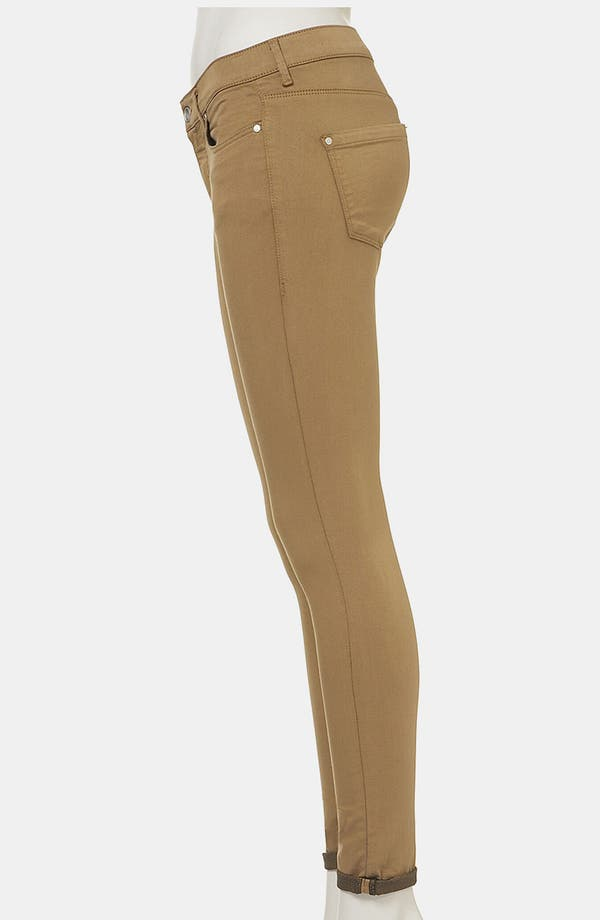 Alternate Image 4  - Topshop Moto 'Leigh' Skinny Jeans (Tobacco) (Petite)