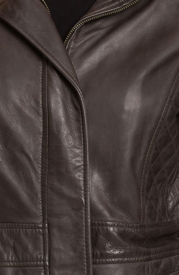 Alternate Image 3  - Marc New York by Andrew Marc Quilt Trim Leather Jacket (Online Exclusive)