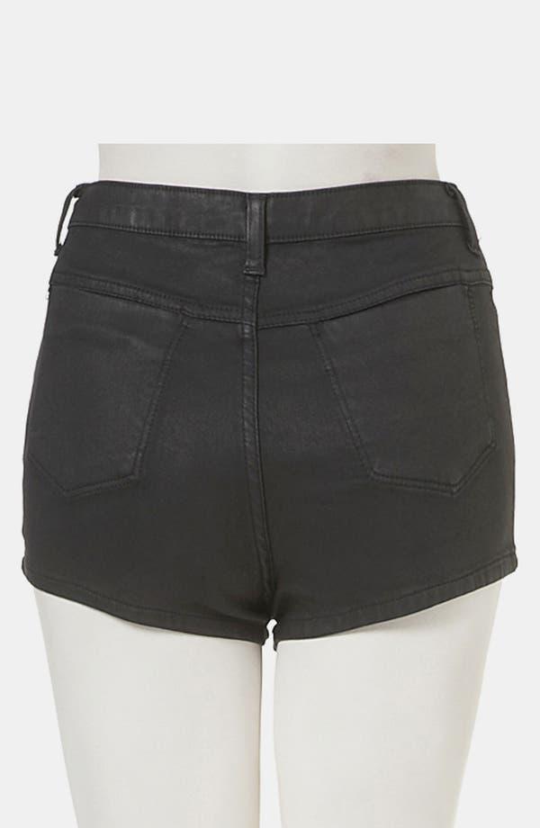 Alternate Image 2  - Topshop Moto 'Suri' Coated Denim Hot Pants