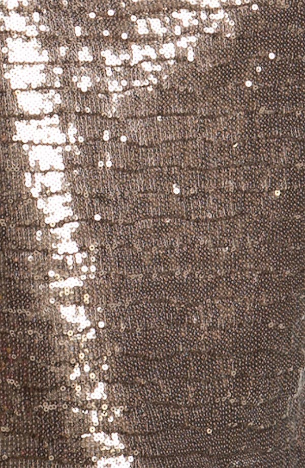 Alternate Image 3  - Betsy & Adam Back Cutout Metallic Sequin Dress