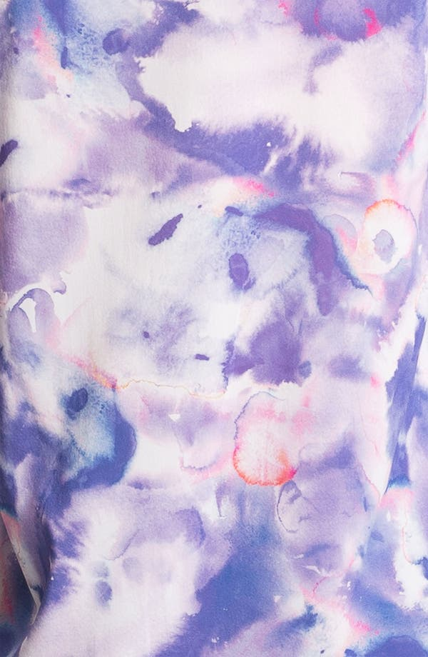 Alternate Image 3  - Alice + Olivia 'Juliette' Tie Dye Stretch Silk Shirt