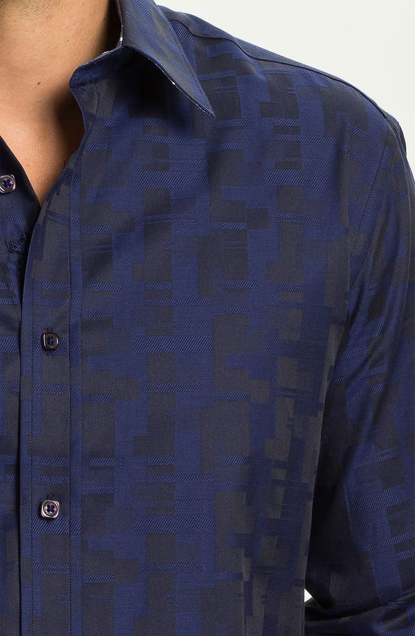 Alternate Image 4  - Bugatchi Uomo Shaped Fit Sport Shirt