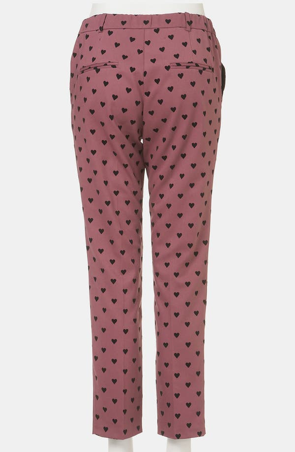 Alternate Image 3  - Topshop Flocked Heart Maternity Trousers
