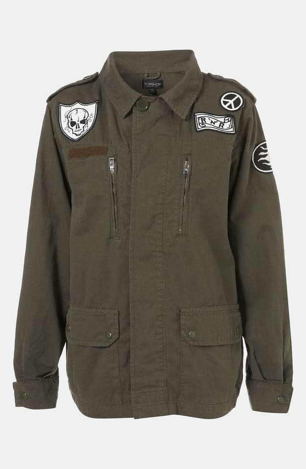 Alternate Image 1 Selected - Topshop Patch Army Jacket