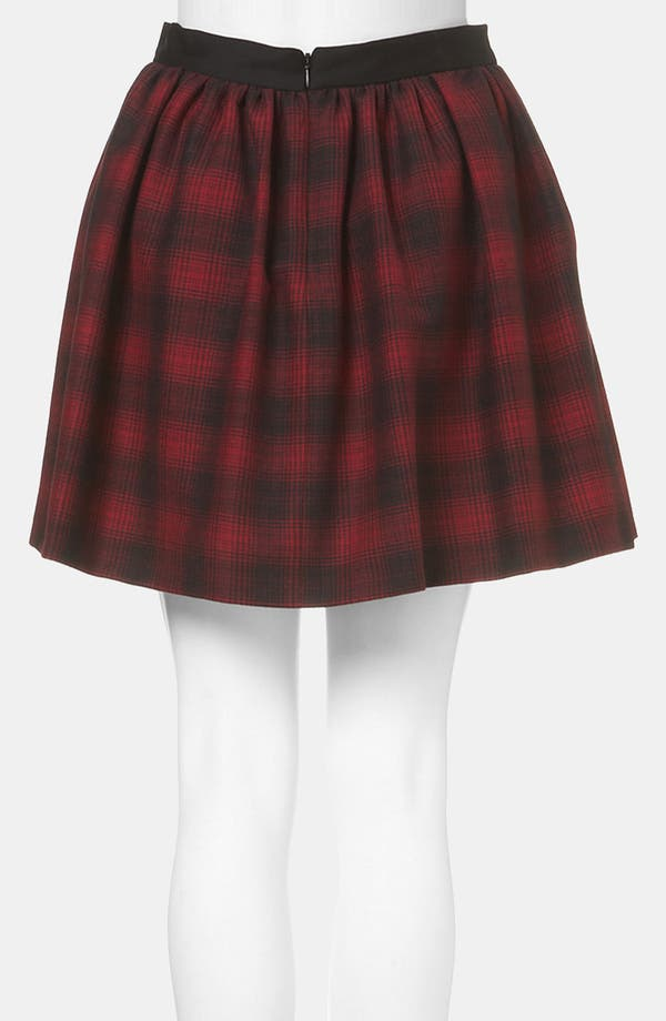 Alternate Image 2  - Topshop Plaid Skater Skirt