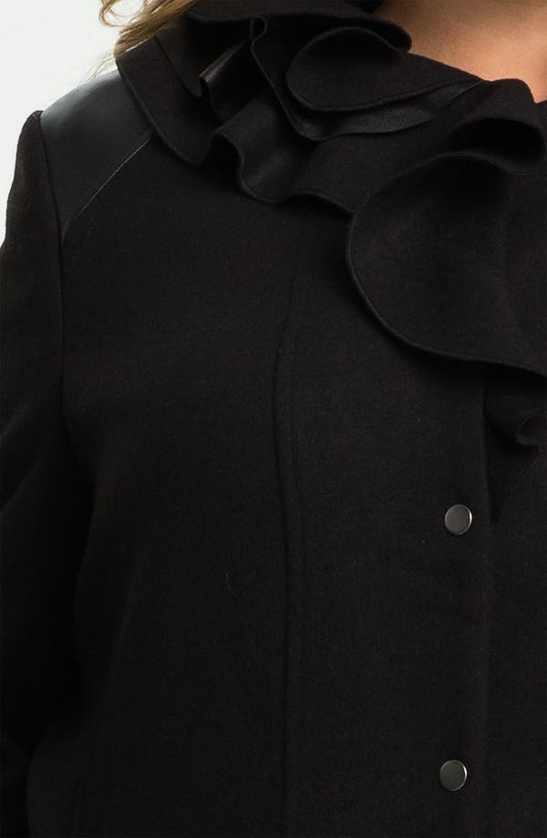 Alternate Image 3  - Tahari Woman 'Millicent' Coat (Plus)