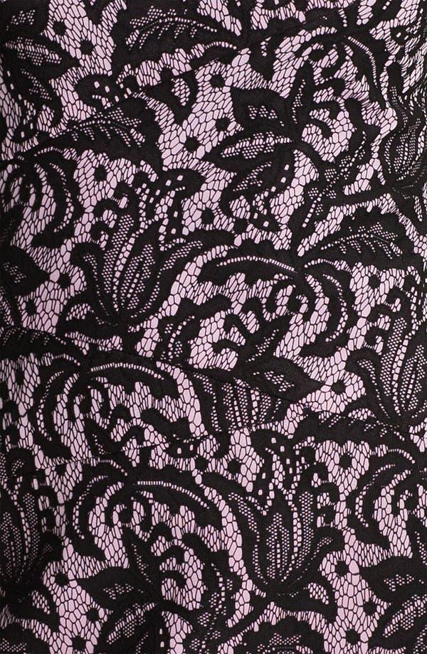 Alternate Image 3  - Kay Unger V-Back Lace Jacquard Sheath Dress