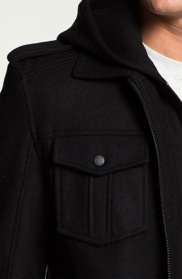 Alternate Image 3  - Black Rivet Wool Blend Bomber Jacket