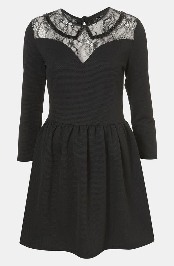 Main Image - Topshop Lace Sweetheart Dress