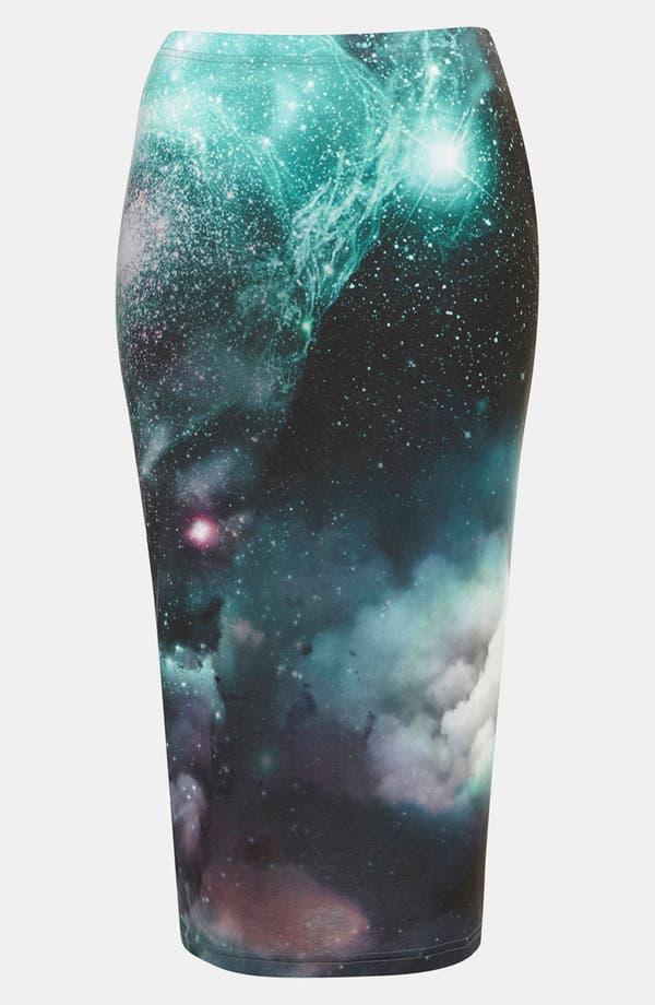 Main Image - Topshop 'Cosmic' Print Tube Skirt