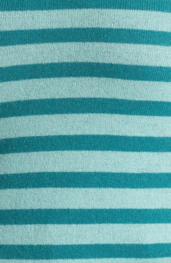 Alternate Image 3  - Halogen® Stripe Cashmere V-Neck Sweater (Plus)
