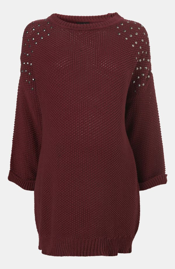 Alternate Image 1 Selected - Topshop 'Grunge' Studded Maternity Sweater