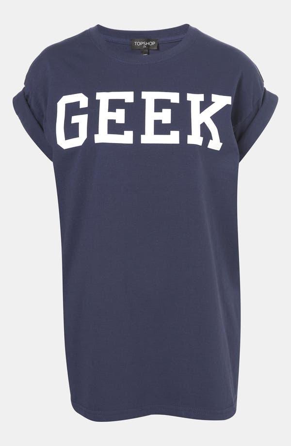 Alternate Image 1 Selected - Topshop 'Geek' Graphic Tee