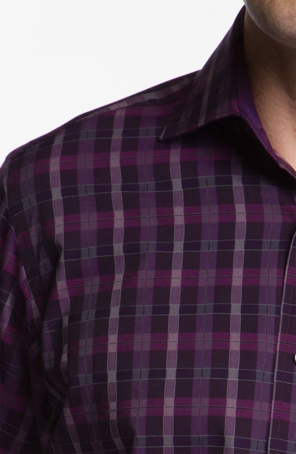 Alternate Image 4  - Bugatchi Uomo Classic Fit Sport Shirt