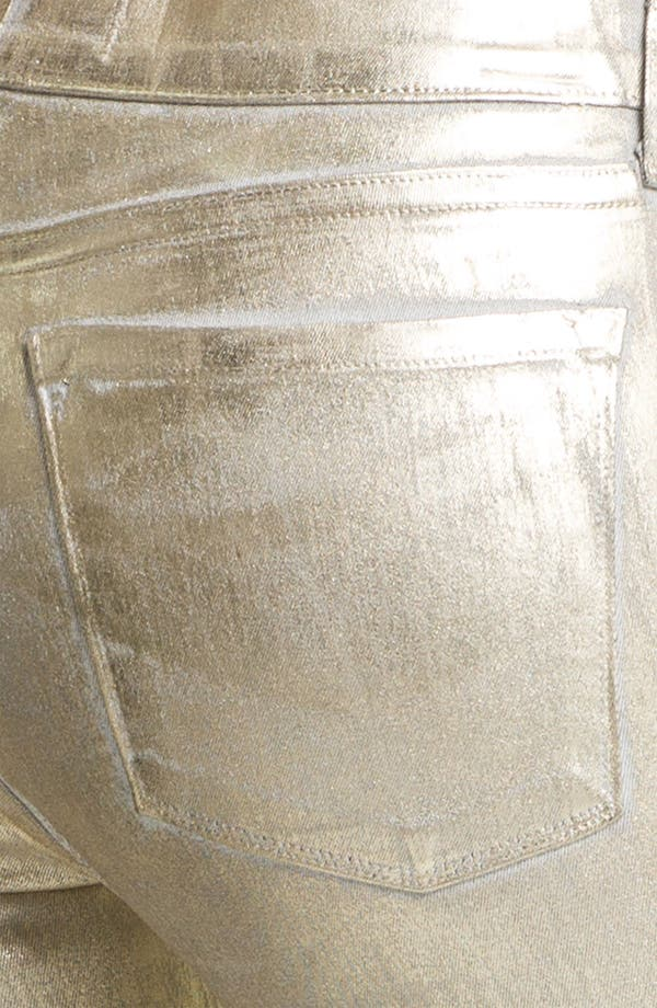 Alternate Image 3  - Juicy Couture Metallic Coated Skinny Jeans (Gold Saturated Foil)