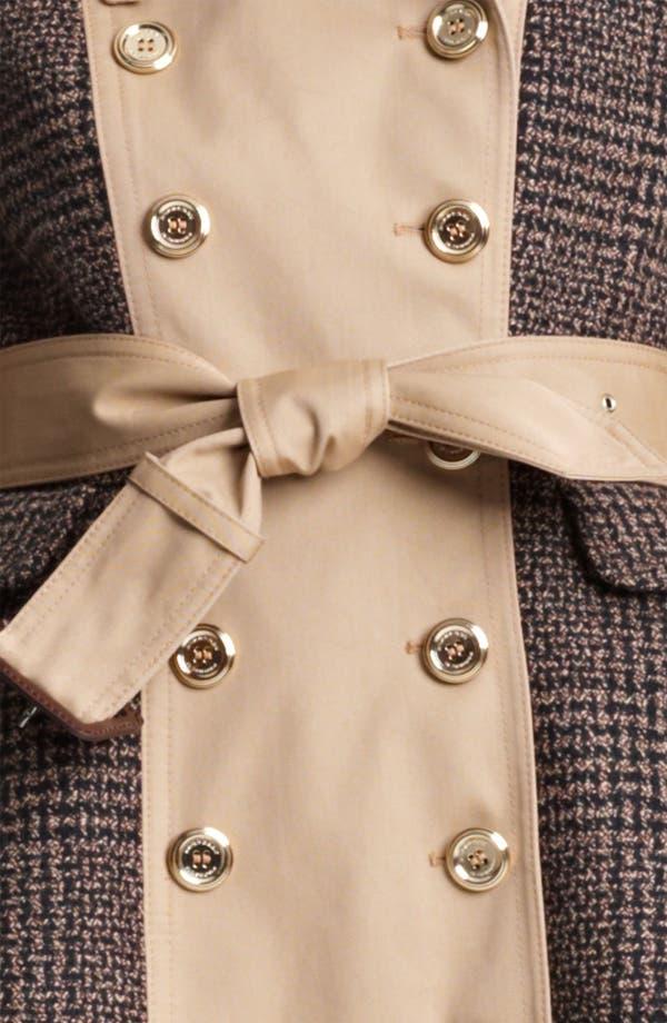 Alternate Image 3  - Burberry Prorsum Belted Plaid Peplum Trench Coat