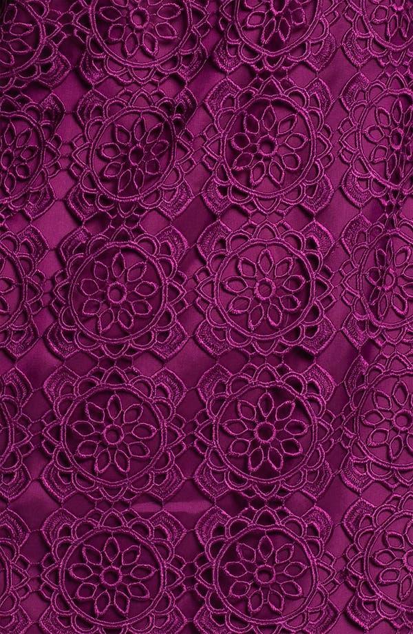 Alternate Image 3  - Laundry by Shelli Segal V-Back Crocheted Shift Dress
